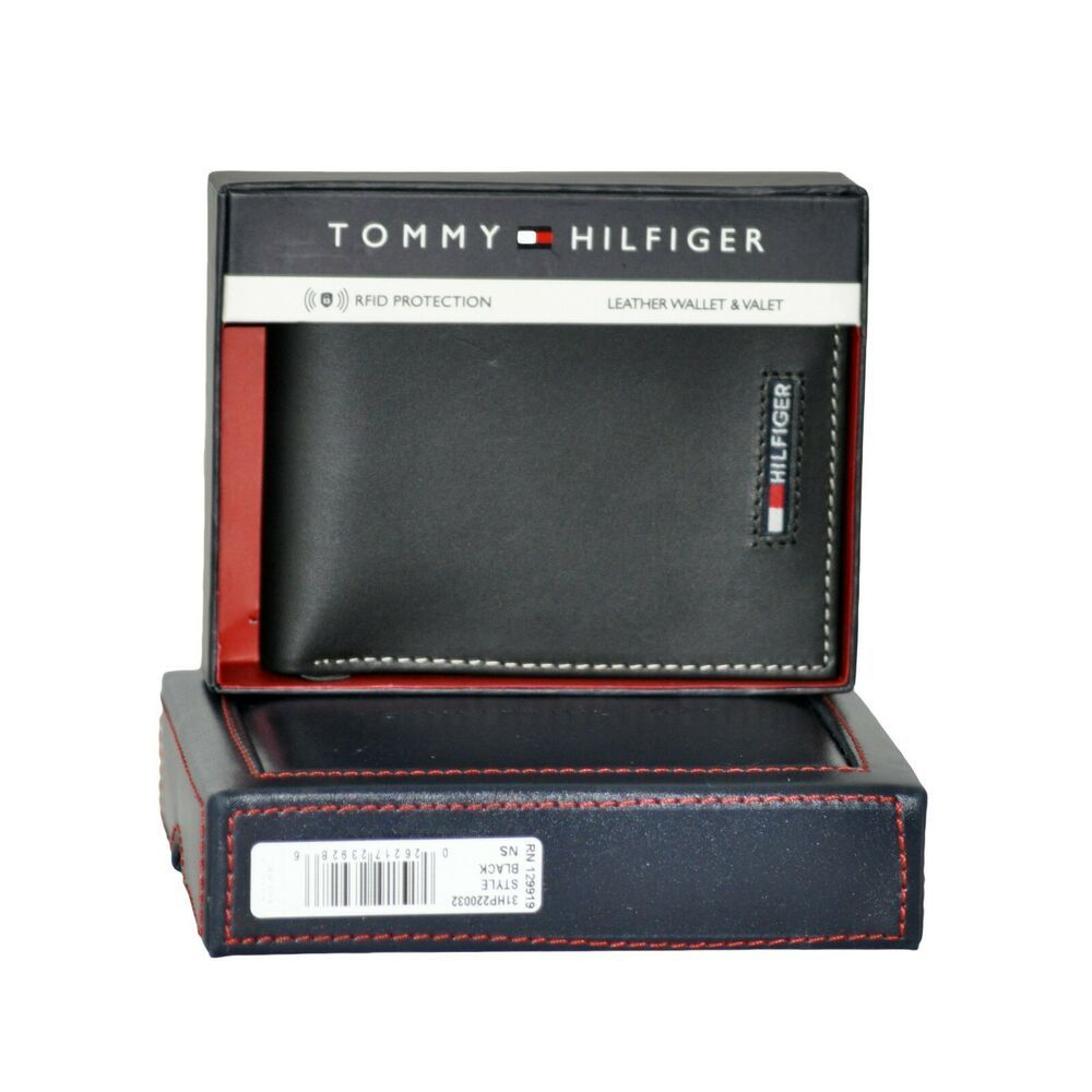 Tommy Hilfiger Men S Genuine Leather Wallet Valet Black Rfid Protection Nib Tommyhilfiger Bifold Rfid Protection Genuine Leather Wallets Tommy Hilfiger