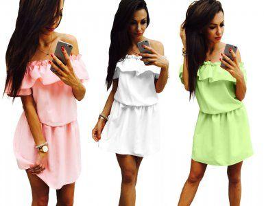Sukienka Hiszpanka Dekolt Falbana Troczek New M15 6309429948 Oficjalne Archiwum Allegro Dresses Fashion Shirt Dress