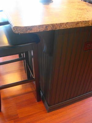 A Beadboard Kitchen Island With Images Beadboard Kitchen