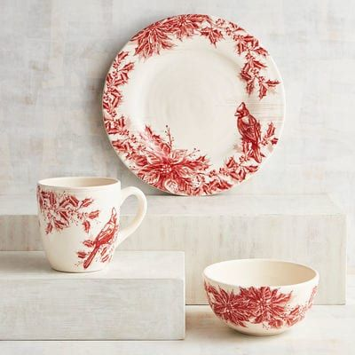 Inspired by European toile patterns our red and white holiday dinnerware has a great sense  sc 1 st  Pinterest & Snowland Village Dinnerware | Dinnerware Toile and Dishwashers