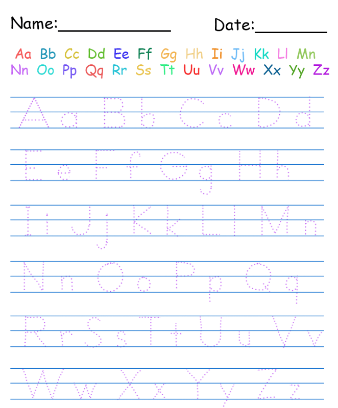 free alphabet worksheets printable | ABC's | Handwriting ...