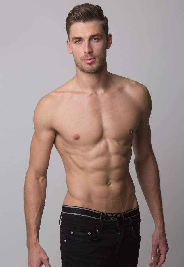 Men athletic body