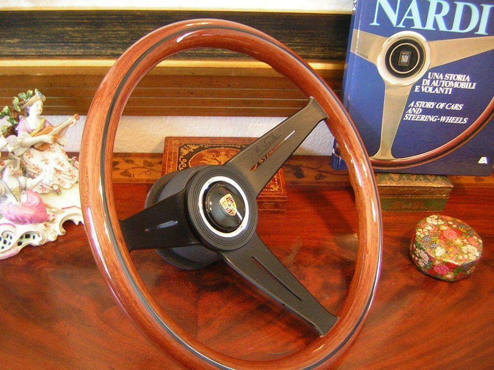 "Porsche 912  1965 - 69 Deep Dish 3"" Wood Steering Wheel Nardi NEW"