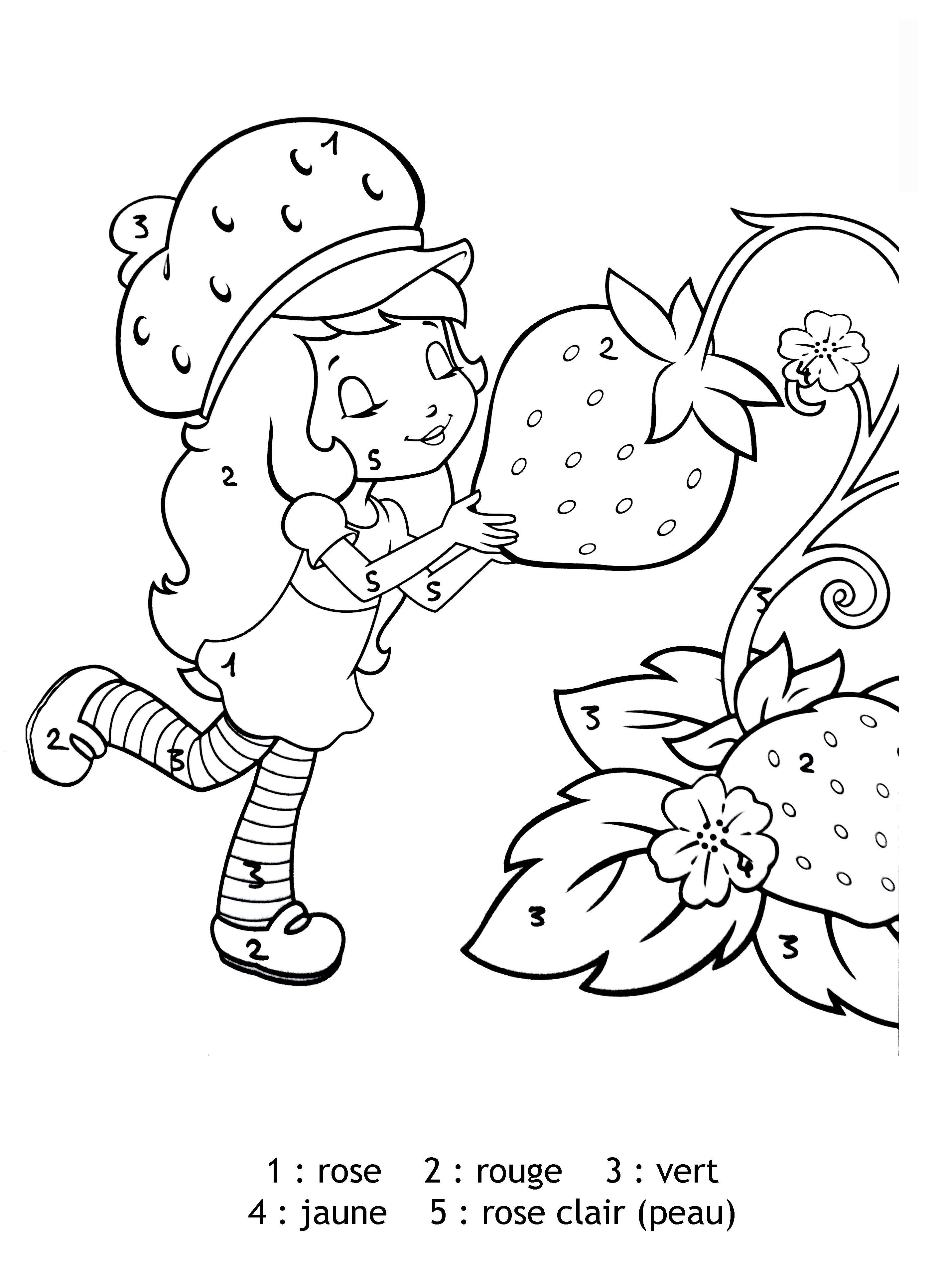 Coloriage Charlotte aux fraises  colorier Dessin  imprimer