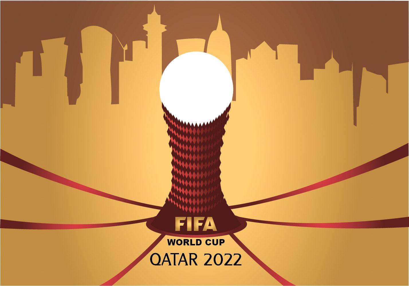 Fifa World Cup Poster Qatar 2022 Brand Creation Futebol Soccer Futebol