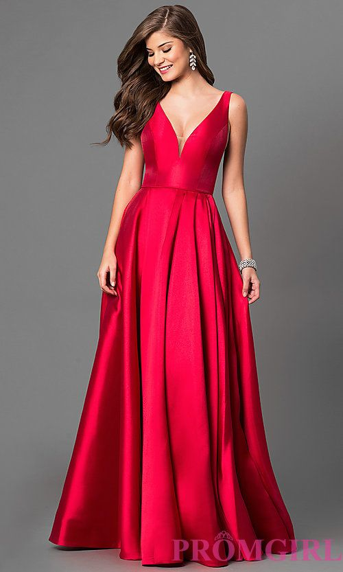 9f5b2b5c7e7f5 V-Neck Long Prom Dress by Sherri Hill very old hollywood, this would look  gorgeous and flatter ur bod