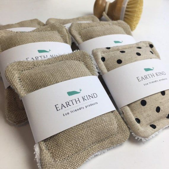 4x eco friendly, simple sponge, eco friendly sponge, plastic free sponge, kitchen sponge, zero waste, upcycled, dish sponge, unsponge, #couturezerodechet
