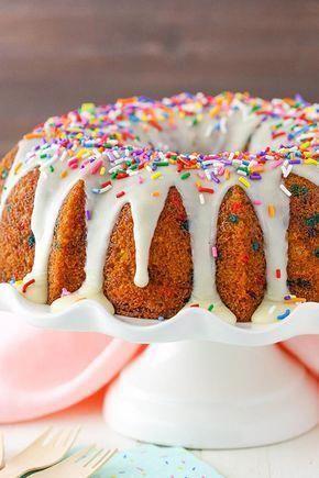 Photo of Funfetti Bundt Cake – moist and full of sprinkles! #cakefunfetti –  Funfetti Bun…