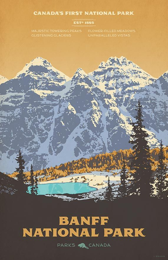 Banff National Park Alberta National Park Posters Posters