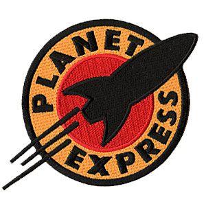 Aufnäher Patch Set neu zum Aufbügeln Futurama Planet Express