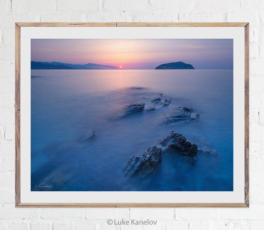 Sunrise Ocean Print Sea Photo Scenery Landscape Artwork Etsy Ocean Print Island Art Large Wall Art
