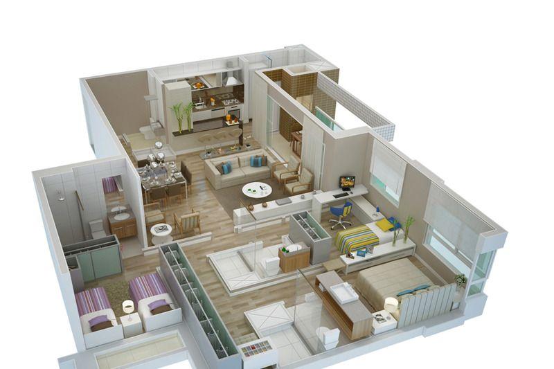 Planta de casa em 3d projetos para experimentar for Programma casa 3d