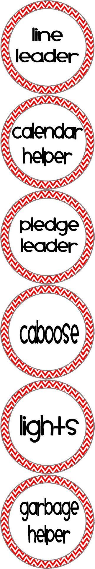 Classroom Helper Chart Labels :). Pinnin g this so I remember to add light helper next year.