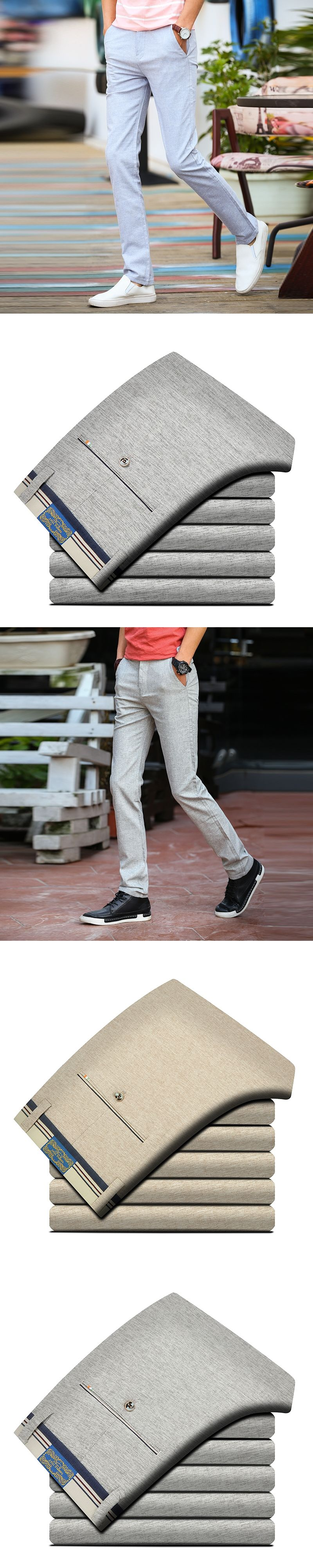 e0cd6c44c6f 2017 brand summer Men Casual linen pants Men slim fit Straight long pants  Men Comfortable cotton