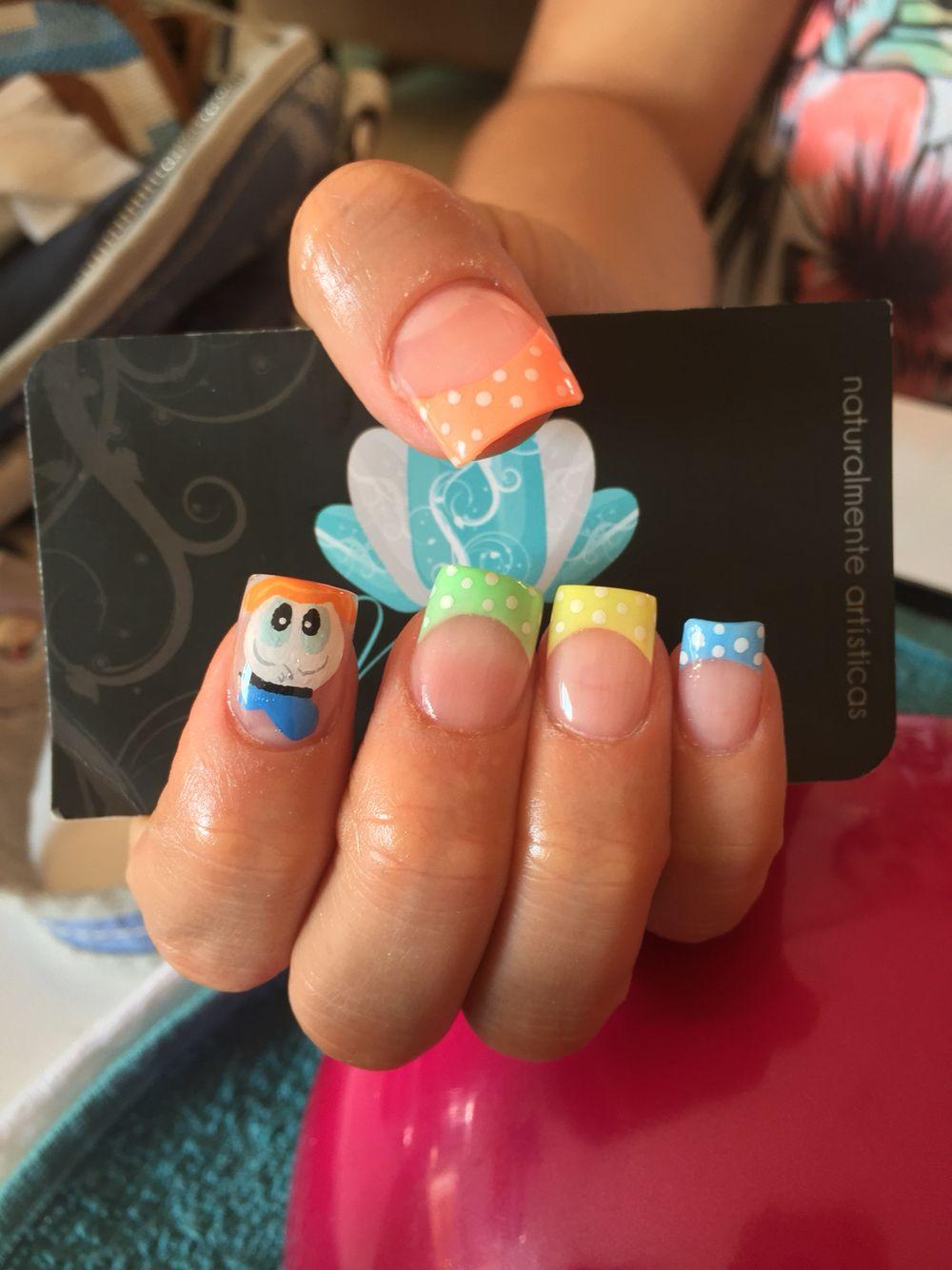 Acrylic Nails Nails Art Nails Donald Nails With Images Nails Disney Nails Fashion Nails