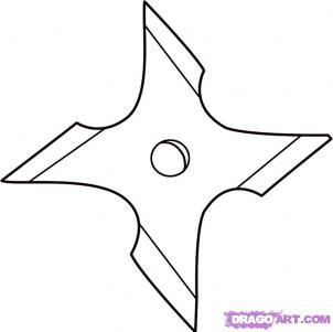 How To Draw A Ninja Star By Dawn Armas Ninja Estrellas Ninja
