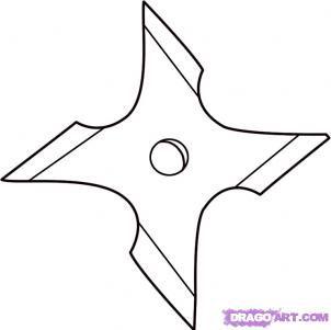 Throwing Star Ninja Star Ninja Crafts Star Coloring Pages