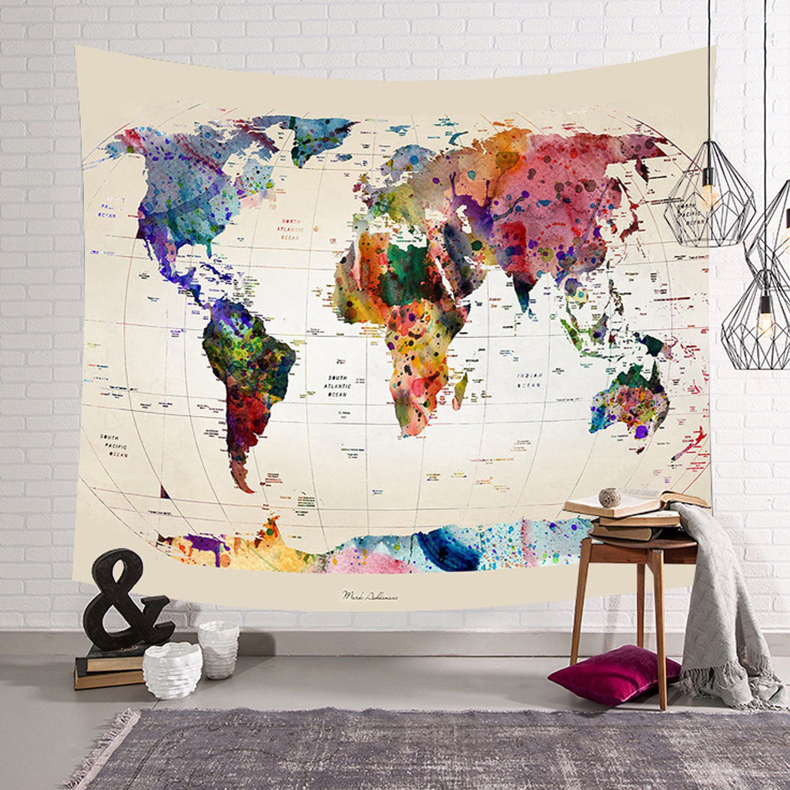 279 gbp world map indian tapestry wall hanging mandala throw 279 gbp world map indian tapestry wall hanging mandala throw hippie gypsy bohemian uk ebay home gumiabroncs Image collections