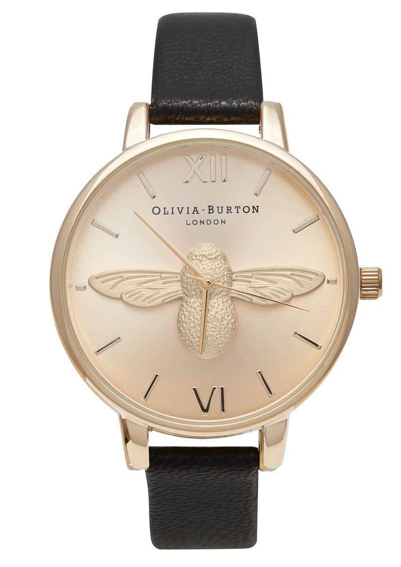 Olivia Burton Animal Motif Moulded Bee Watch - Gold
