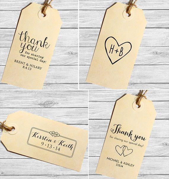 thank you wedding favor tags (custom stamped) | HANDMADE WEDDING ...