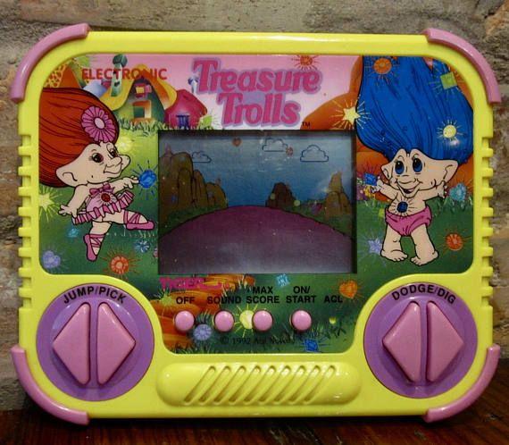 Vintage Treasure Trolls Game 90s Tiger Electronics Handheld Video