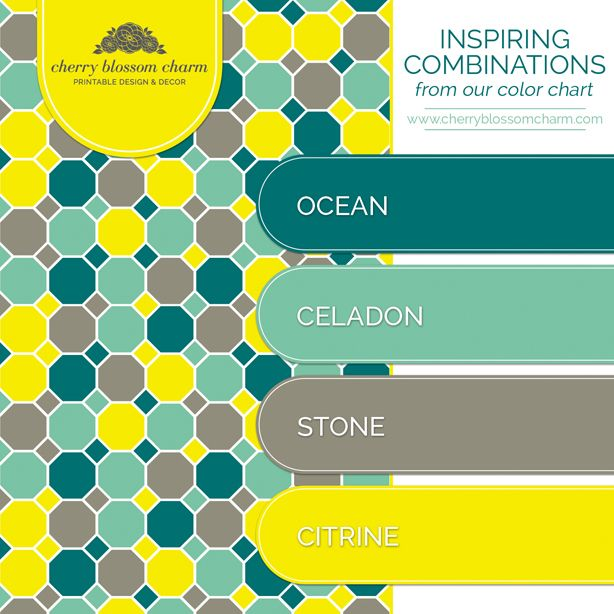 Color combinations ocean blue green celadon citrine for Ocean blue color combinations