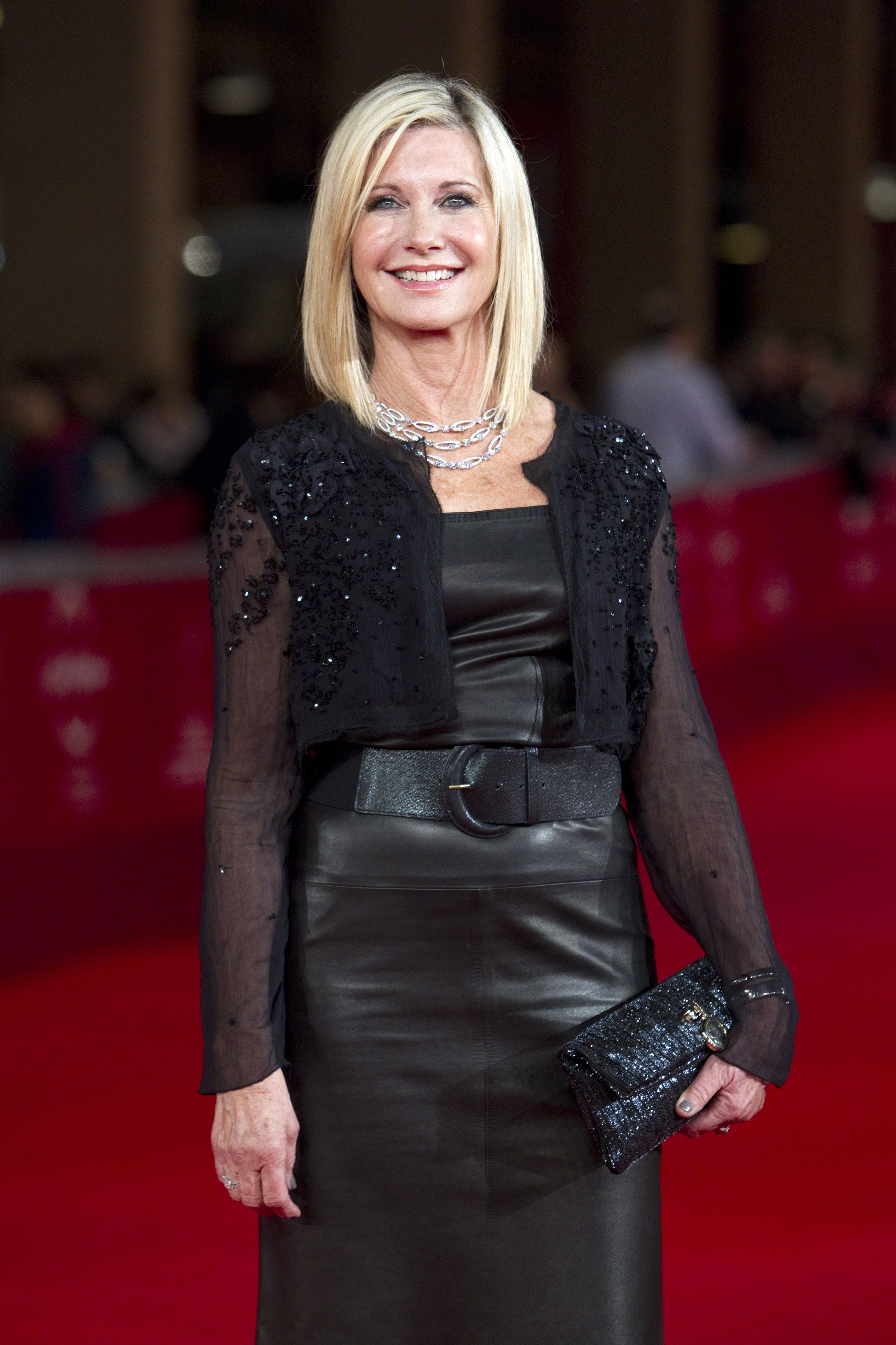 Celebrities In Leather: Olivia Newton John in leather ... Olivia Newton John
