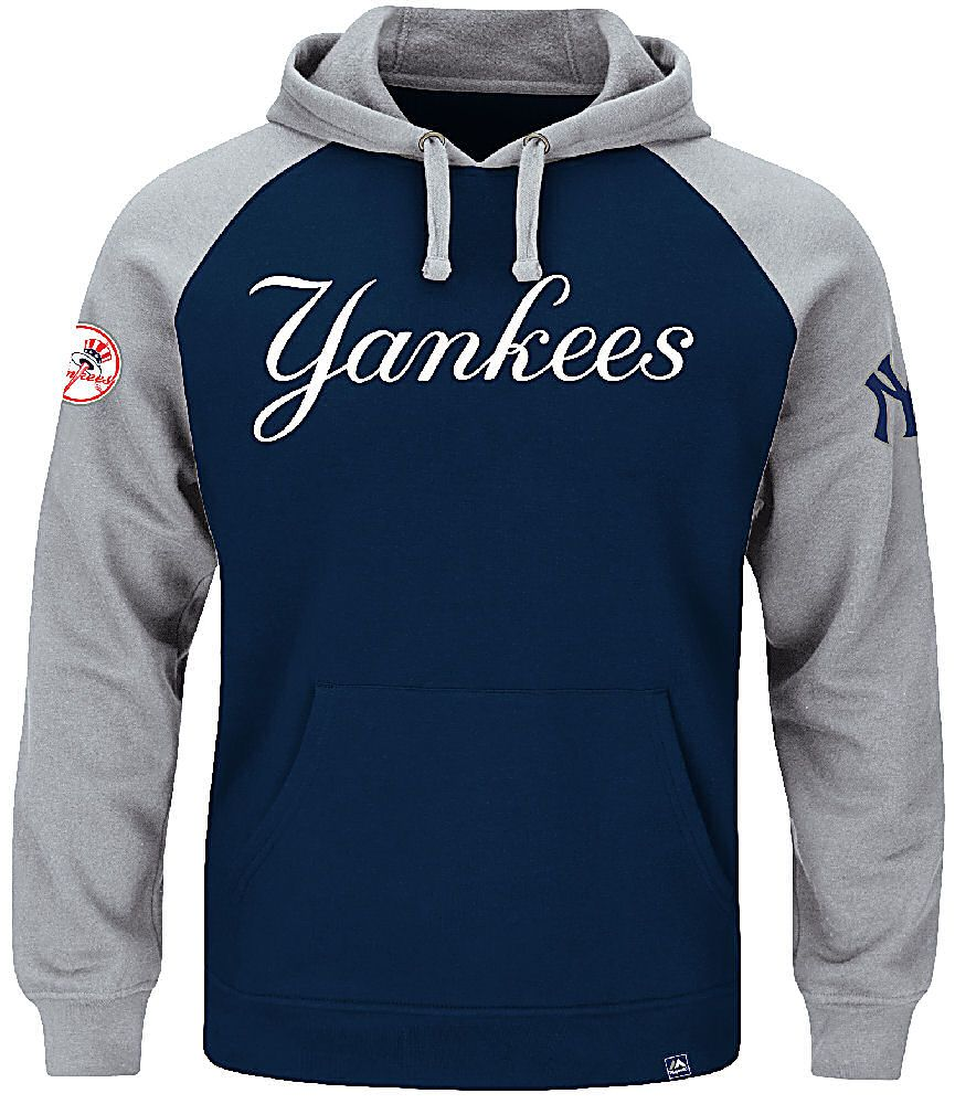 New York Yankees Mens Navy Grand Slam Hoodie By Majestic New York Yankees Apparel Jackets Men Fashion Hype Clothing [ 1000 x 865 Pixel ]