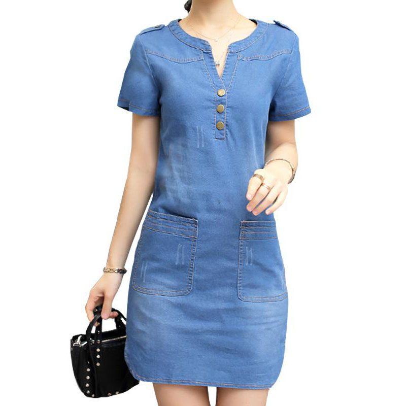 717ac4b02032f Resultado de imagen para vestidos de jean para mujer