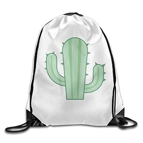36139982b6 Drawstring Bag Gym Bag Travel Backpack Cactus White Large Drawstring  Backpacks for Teen Kids