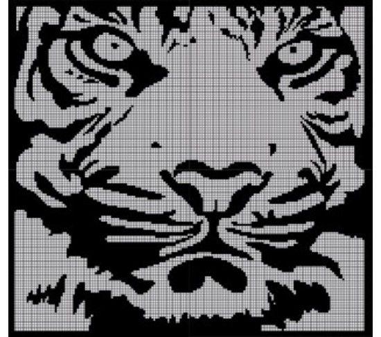 White Tiger Crochet Pattern Afghan Graph