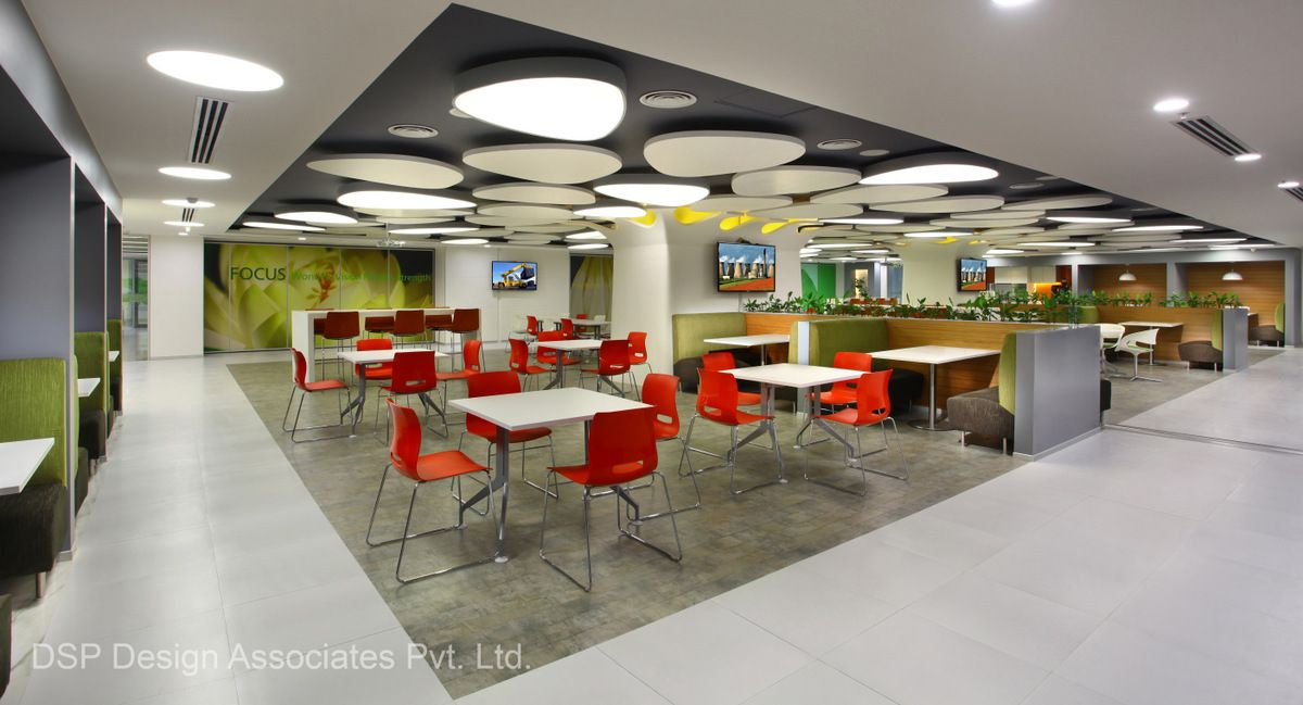 Office Space Design Concept Microsoft - Gurgaon Offices - 10 Office Design Concepts, Office Space Design,  Pantry Room