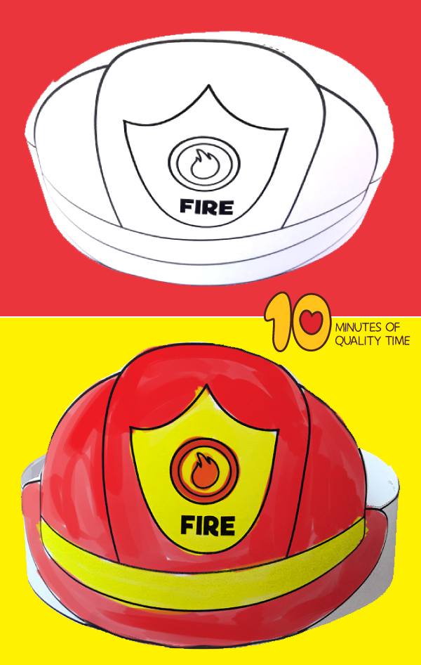 picture about Fireman Hat Printable called Pin upon 10 Minutes of Top quality Year
