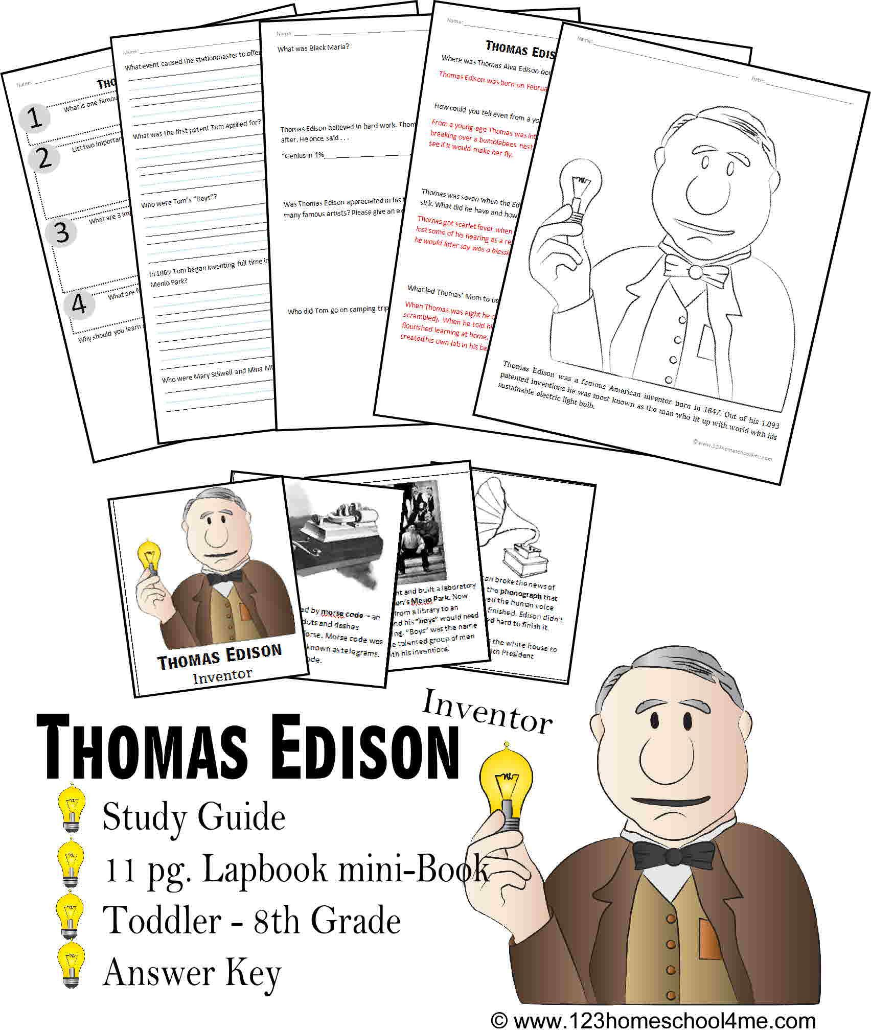Thomas Edison Biography Report K 8th