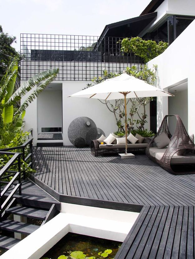 les plus belles terrasses de pinterest pinterest. Black Bedroom Furniture Sets. Home Design Ideas