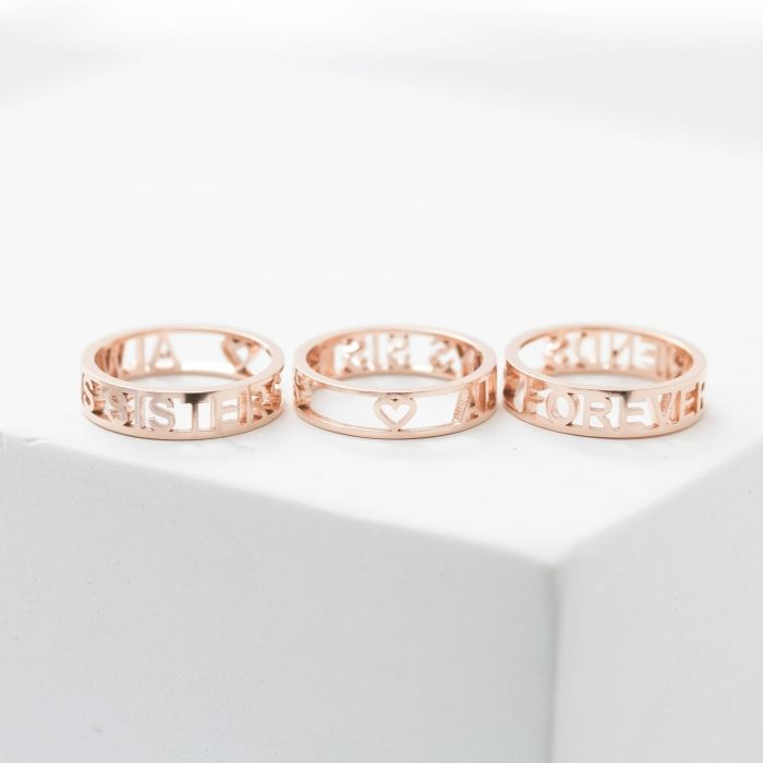 Custom Coordinate Ring or Roman Numeral Promise Band 14K Solid Gold Engravable Name Band Ring Actual Handwriting Ring Band