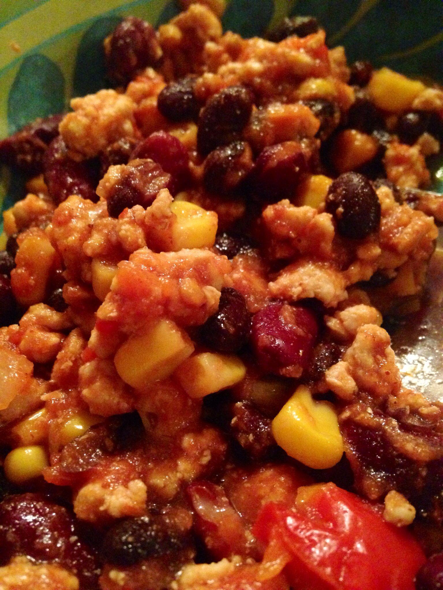 Super Easy Crockpot Non Spicy Chili 1lb Ground Turkey 1
