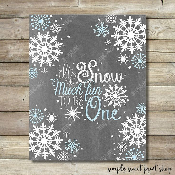 Winter Wonderland Onederland Printable Picture Snow Much Fun To Be ...