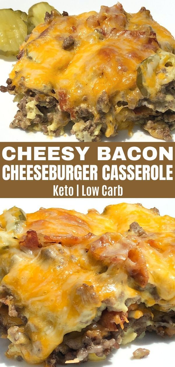 Low Carb Bacon Cheeseburger Casserole - Curbing Carbs
