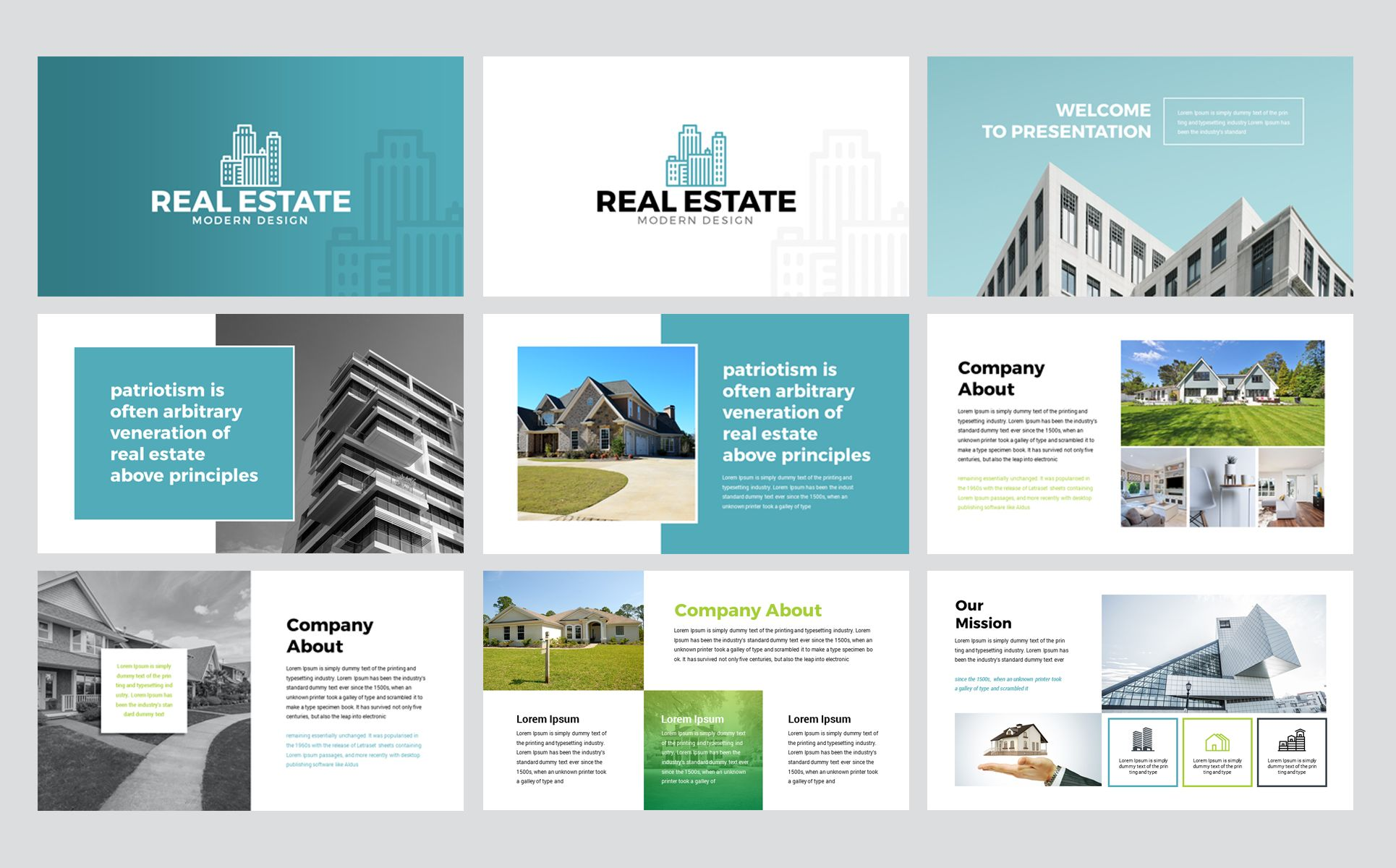Real Estate Powerpoint Template 76958 Keynote Template