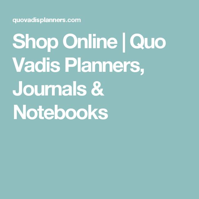 Shop Online | Quo Vadis Planners, Journals & Notebooks