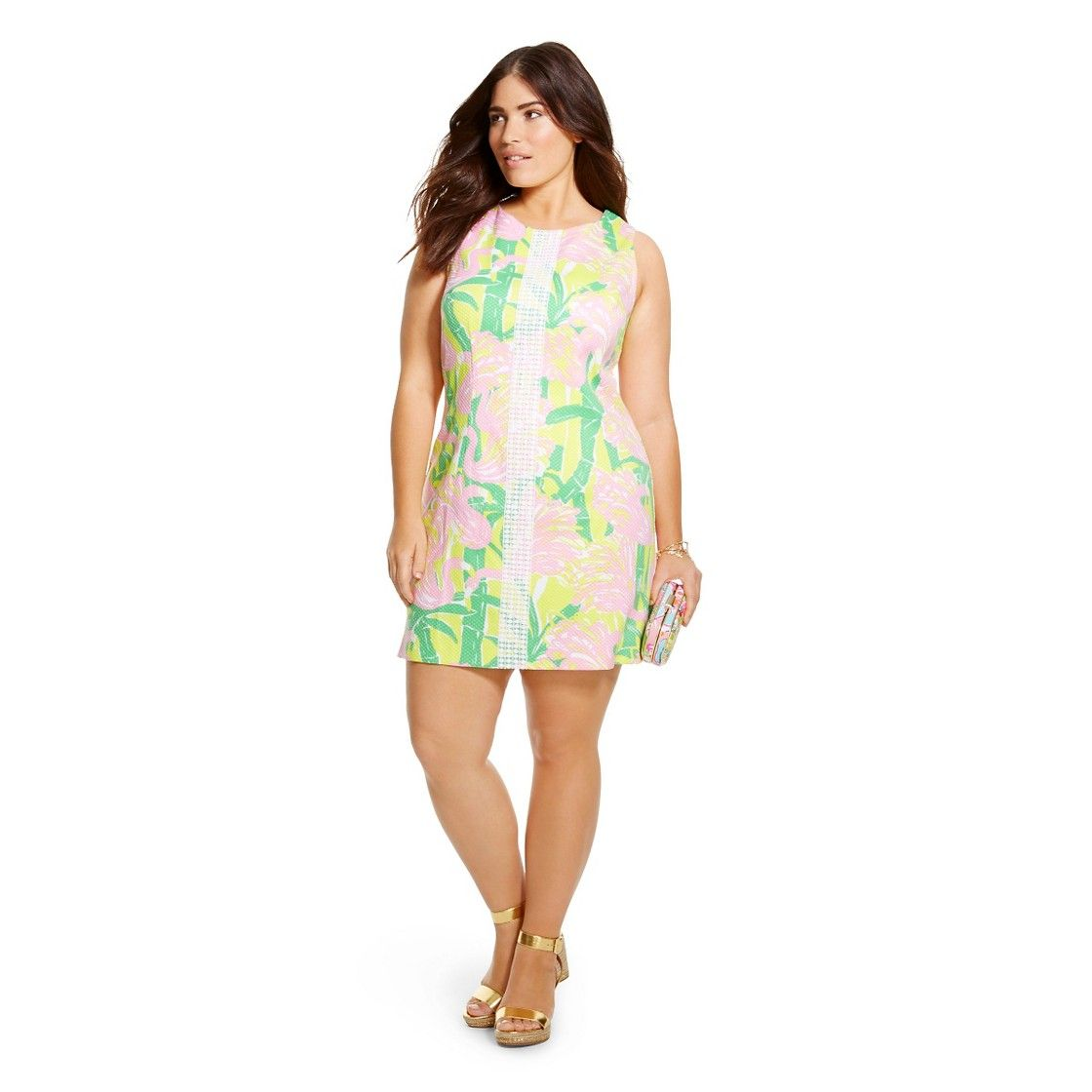 Lilly Pulitzer For Target Womens Plus Size Shift Dress Fan Dance
