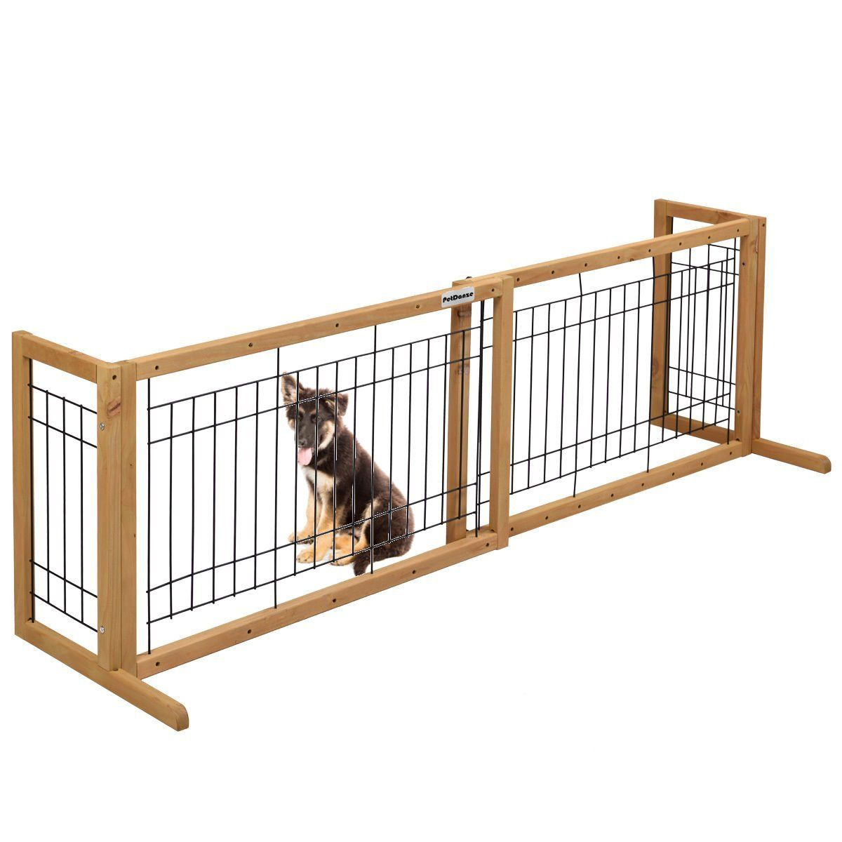 PetDanze Free-Standing Pet Gates | Extra Wide Indoor Small Dog Gate ...