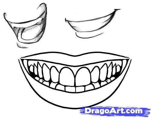 how to draw an insane smile