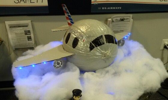 Airplane Halloween Decorations 2020 American Airlines airplane pumpkin   Halloween | Pumpkin
