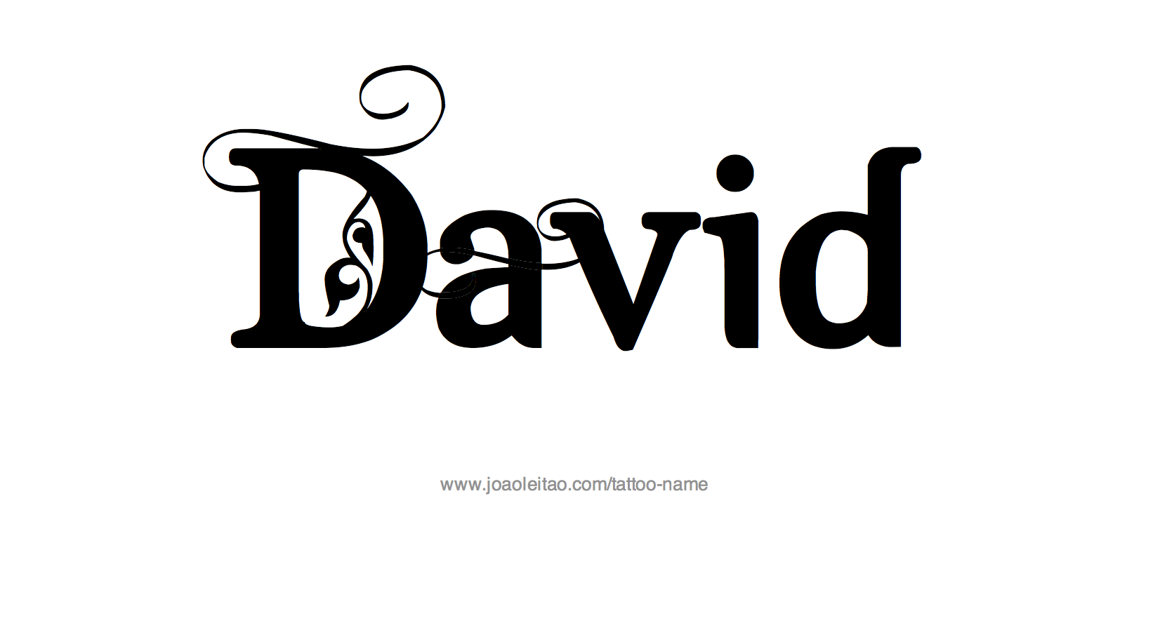 57f8232999913 David Name Tattoo Designs | David | Name tattoos, Name tattoo ...