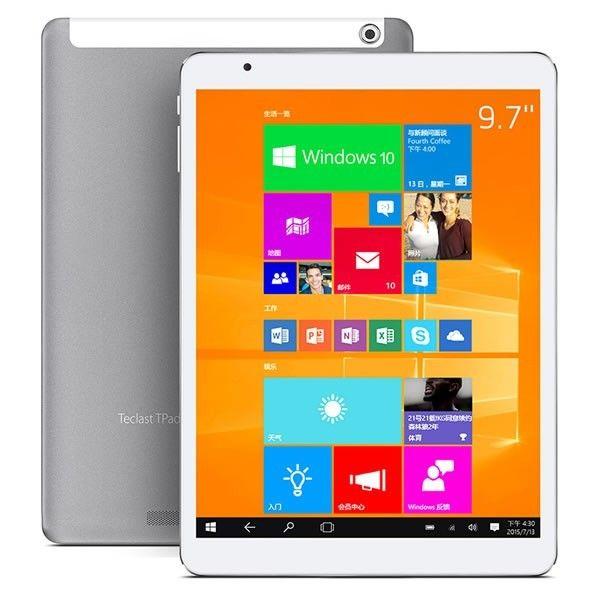 Teclast X98 Air 3G Dual Boot Intel Z3736F Windows 10 & Android 4.4 64GB 9.7 Inch Tablet