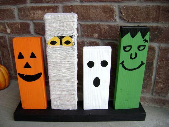 La Famille Noire Diy Wooden Halloween Decorations Decor