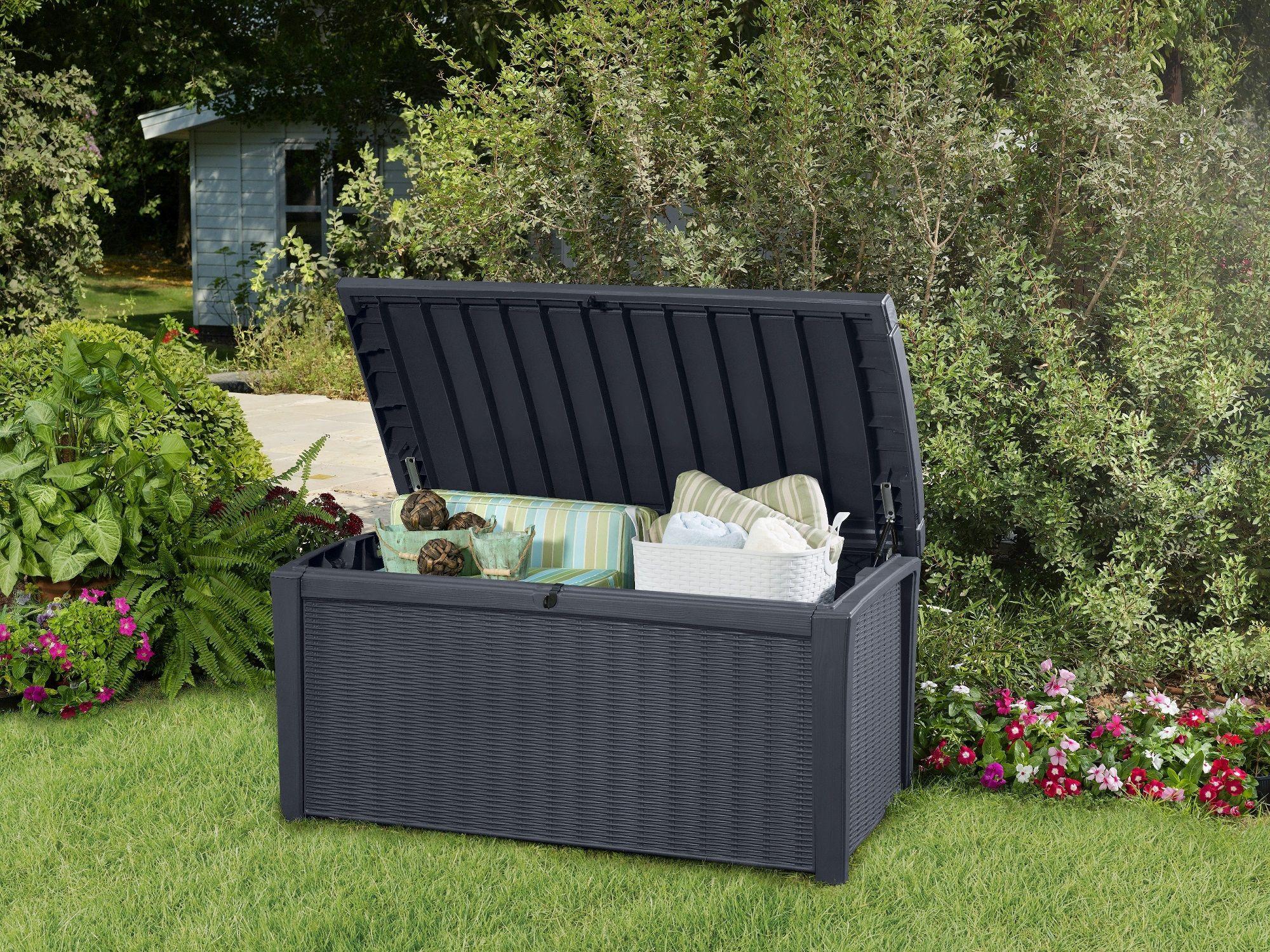 Opbergbox Kussens Tuin : Handige opbergbox voor in de tuin. snel en veilig opbergen dankzij