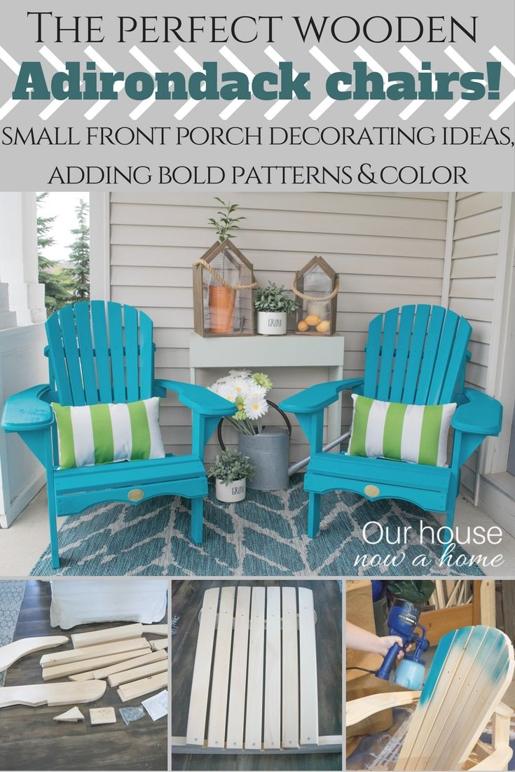 Front porch decorating ideas with the perfect adirondack for Outdoor furniture for small front porch